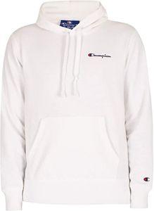 Champion Herren Comfort Chest Logo Pullover Hoodie, Weiß XXL