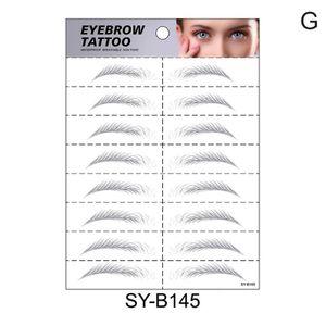 8 paar 4d Haar Wie Augenbrauen Tattoo Aufkleber Falsche Augenbrauen Wasserdicht Dauerhafte Make-Up