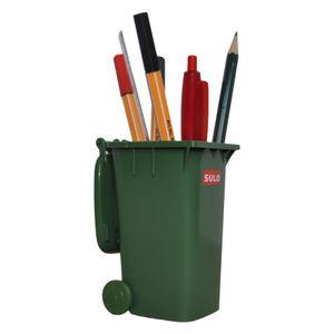 Mini-Mülltonne original SULO kleine Ausführung GRÜN Miniatur Behälter Aufbewahrung Stiftehalter Büro Spielzeug