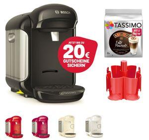 TASSIMO Vivy 2 + 20EUR Gutscheine* + Spender + TDiscs Heißgetränkemaschine, Farbe:Creme