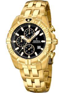 Festina F20356/4 Chronograph Uhr Herrenuhr Edelstahl Chrono Datum Gold