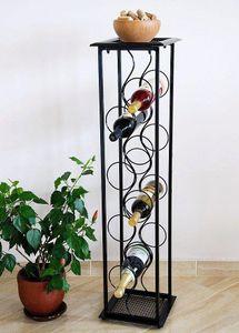 """DanDiBo Weinregal Blumensäule """"Oktave"""" 100 cm Flaschenständer Metall Regal Flaschenhalter"""