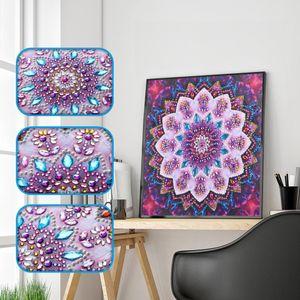 DIY 5D speziell geformte Blumen Diamant Malerei Kreuzstich Crafts Dekore 2 25X25cm wie beschrieben + wie beschrieben