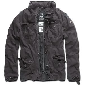 Brandit - Britannia Jacket schwarz Jacke Herren Feldjacke Used Look Größe L