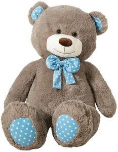 Heunec Kuscheltier Bär kitt mit Schleife XXL, Plüschtier, 130 cm Teddybär