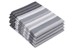 Geschirrtücher Baumwolle, grau, 50x70 cm, 4er Set