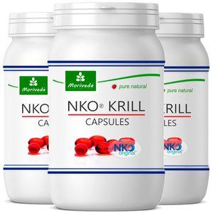 MoriVeda® NKO Krillöl Kapseln - Omega 3,6,9 Astaxanthin, Vitamin E, Choline, Phospholipide, Krill Öl (270 Softgels)