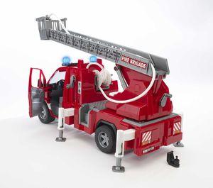 Bruder MB Sprinter Feuerwehr m. Drehleiter, Wasserpumpe und Light and Sound Modul 02532