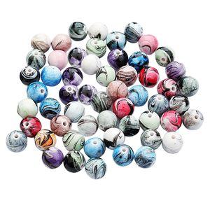 100er Set Harz Perlen Runde Perlen Spacer Zwischenperlen Bastelperlen Dekoperlen für DIY Schmuck