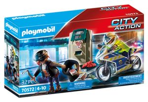 PLAYMOBIL City Action 70572 Polizei-Motorrad: Verfolgung des Geldräubers