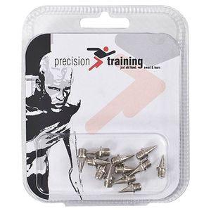 Precision - Leichtathletikschuh-Spikes, Pyramidenform, Set im12er-Pack RD537 (6 mm) (Silber)