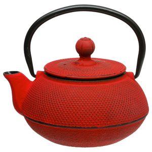 Teekanne, die rote Teekanne im japanischen Stil ist perfekt zum Brauen getrocknet - Secret de Gourmet