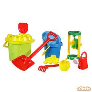 Sandspielzeug Eimergarnitur Sandkasten Spielzeug Strand Schaufeln Förmchen 11 Teile