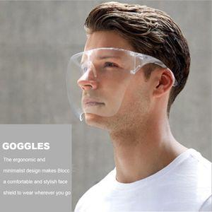 Face Shield Brille Schutzvisier transparent Gesichtsschutz Visier Anti-Spuck Gesichtsvisier ,Mund Nasen Visier (L)