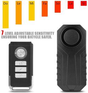 Motorrad Alarm System, Wireless Motorrad Fahrrad Diebstahl Alarmanlage,Alarm Sicherheitsschloss Fahrzeug Alarmschloss Diebstahlschutz mit Fernbedienung Schwarz