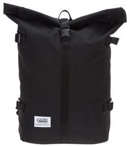 Rucksack Kurierrucksack Freizeitrucksack Spear Courier Fahrradrucksack Roll-Top Sportrucksack Tasche Backpack 287 Schwarz