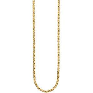 JOBO Königskette 925 Sterling Silber gold vergoldet 3,2 mm 45 cm Kette Halskette