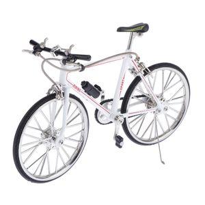 Maßstab 1/10 Simulierte Legierung Mountainbike Fahrrad Modell Wohnkultur Weiß A EIN wie beschrieben