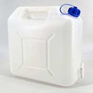 Wasserkanister Eco 15L mit Hahn Camping Garten Wassertank Trink-Wasser-Behälter
