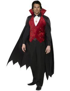 Halloween Herren Kostüm Vampir Graf Dracula Horror Karneval Größe M