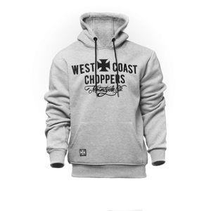 West Coast Choppers Motorcycle Co. Hoodie Farbe: Grau, Grösse: XL