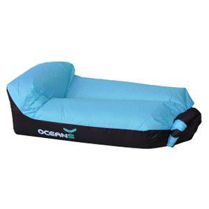 Ocean5 Air Lounger, aufblasbares wasserdichtes Luft Sofa, Loungebag mit integriertem Kissen inkl. Tragebeutel, Farbe: Blau