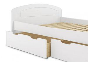 Funktionsbett 160x200 Doppelbett 3 Staukästen Rollrost Seniorenbett Massivholz Weiß 60.50-16 W