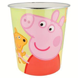 Peppa Pig Kinder Papierkorb Mülleimer Kunststoff Abfalleimer Eimer Peppa Wutz