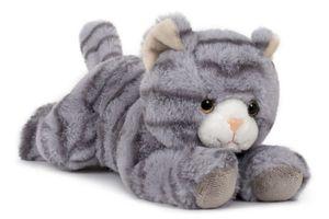Plüschtier Katze 28 cm, grau,  Kuscheltier Stofftier Haustiere Katzen Kätzchen
