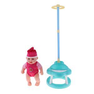 Puppenwagen mit Zugstange & Neugeborenes Baby Doll für Mellchan Baby Blau wie beschrieben Puppen wiedergeborene Vorräte