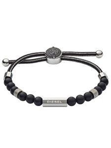 Diesel  DX1151040 Herren Armband BEADS Edelstahl Silber 24,5 cm