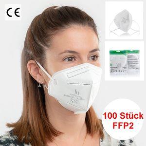 ✅ GKA (deutscher Händler) 100 Stück FFP2 CE2163 Maske Mundschutz Atemschutzmaske Gesichtsschutz Masken  5 Lagen (BFE): ≥ 94 %   ✅