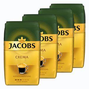 JACOBS Expertenröstung Crema Kaffee Ganze Bohne 4 x 1 kg Kaffeebohnen