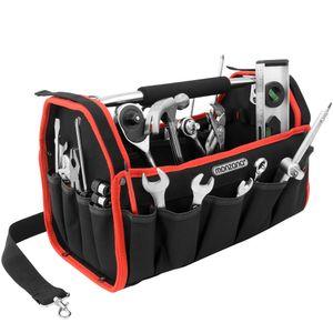 Werkzeugtasche Montagetasche Werkzeugbox Werkzeugkasten Werkzeug Schultergurt, Größe:XL