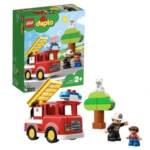 LEGO 10901 DUPLO Town Feuerwehrauto mit Feuerwehrmann-Figur, Licht & Geräusche, Spielzeug für Kinder im Alter von 2 bis 5 Jahren