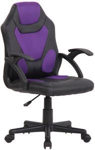 CLP Kinder Bürostuhl Dano höhenverstellbar, Farbe:schwarz/lila