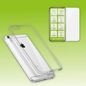Silikoncase Transparent + 0,3 H9 Hartglas für Apple iPhone 7 4.7 / 8 4.7 / SE 2020 Tasche Hülle Neu
