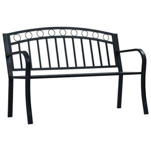dereoir Gartenbank 125 cm Schwarz Stahl