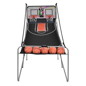 COSTWAY Basketballkorb Basketballstaender Basketball Automat Basketballspiel Schiessmaschine Elektronische Automatische Score inkl. 4 Baellen klappbar