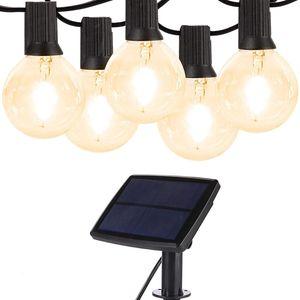 Solar LED-Lichterketten, 25FT 25 LED-Lampen Wetterfeste Gartenleuchten
