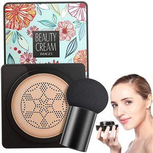 Mushroom Head Air Cushion CC Cream Foundation Cover Wasserdichter Concealer Air Cushion Flüssige Foundation für Make-up Basis(Elfenbein)