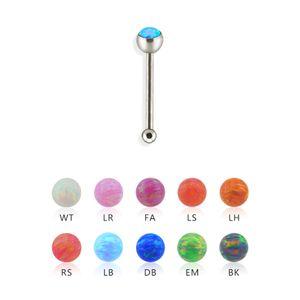 Stahl - Nasenstecker - Opal EM - Grün