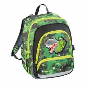 Schulrucksack Speedy Green Dino