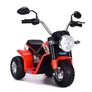 COSTWAY Elektro Motorrad, Kindermotorrad batteriebetrieben, Elektromotorrad mit Stuetzraedern, Kinder Motorrad, Kinderfahrzeug 57x72x56 cm rot