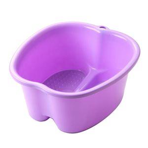 Fußbad Bad Größe Zum Einweichen Füße Geschenk für Mutter Farbe Lila