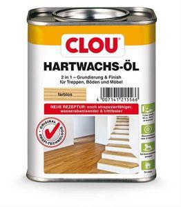 Holzöl/-wachs CLOU Hartwachs-Öl für Holzböden und Möbel farblos 750 ml
