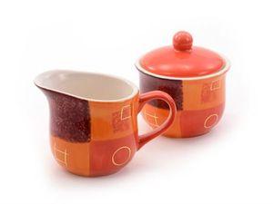 """Milch & Zuckerset """"Patricia"""" Keramik, mit Goldauflage Kännchen: 0,2 l, Topf: 0,18 l"""