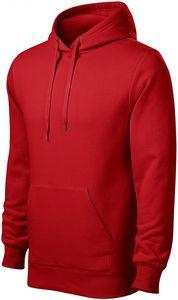 Herren Sweatshirt mit Kapuze ohne Reißverschluss - Rot - L