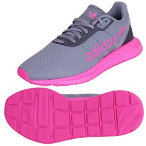 adidas Swift Run RF J Sneaker unisex UK 5 [EU 38] grau-pink (FW1956)