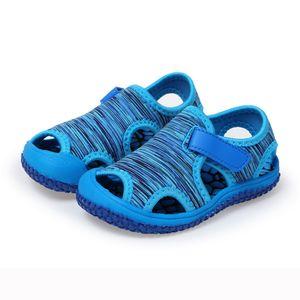 Sommer Kind Kinder Baby Mädchen Jungen Strand Rutschfeste Outdoor Sneakers Sandalen Schuhe Größe:23,Farbe:Blau